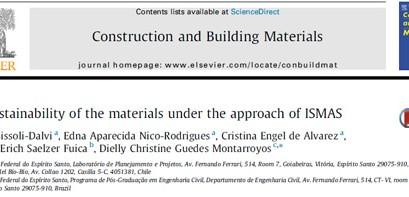 """Artículo de Tesis Doctoral  """"Construcción and Building Materials"""""""