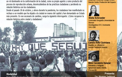 """Conversatorio Ciudadano DAU: """"Las Ciudades en Tiempos de Cambio"""""""