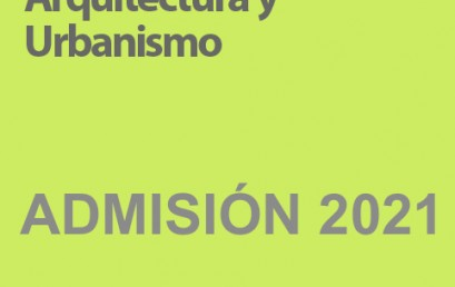 Convocatoria ADMISIÓN 2021