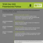 Presentaciones Públicas de Tesis 2020